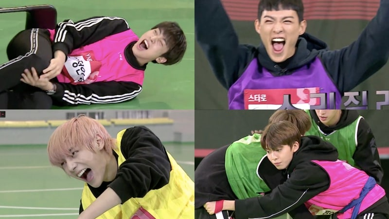 """MIXNINE"" Male Contestants Go Head-To-Head In Hilarious Athletic Competition"