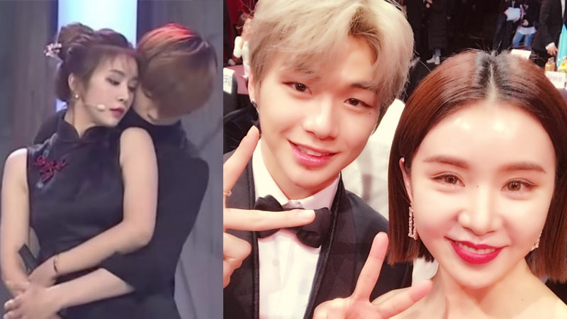 Wanna One's Kang Daniel And FIESTAR's Cao Lu Reunite At SBS Entertainment Awards