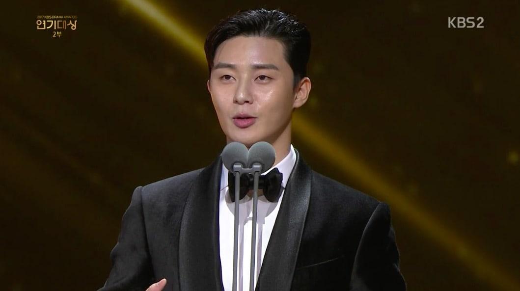 kbs drama awards 2017 park seo joon ile ilgili görsel sonucu