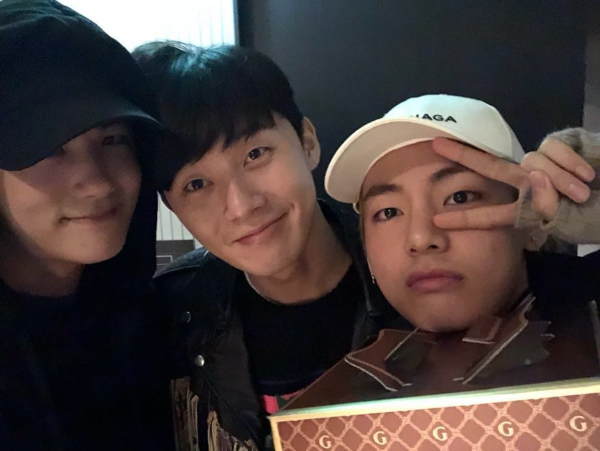 Park Hyung Sik And Park Seo Joon Share Photos From Birthday Meet-Up With BTS's V