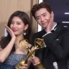 Suzy And Lee Jong Suk Tease Each Other Backstage After Receiving Best Couple Award