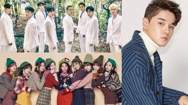 EXO, TWICE, Dean, And More Top Weekly Gaon Charts