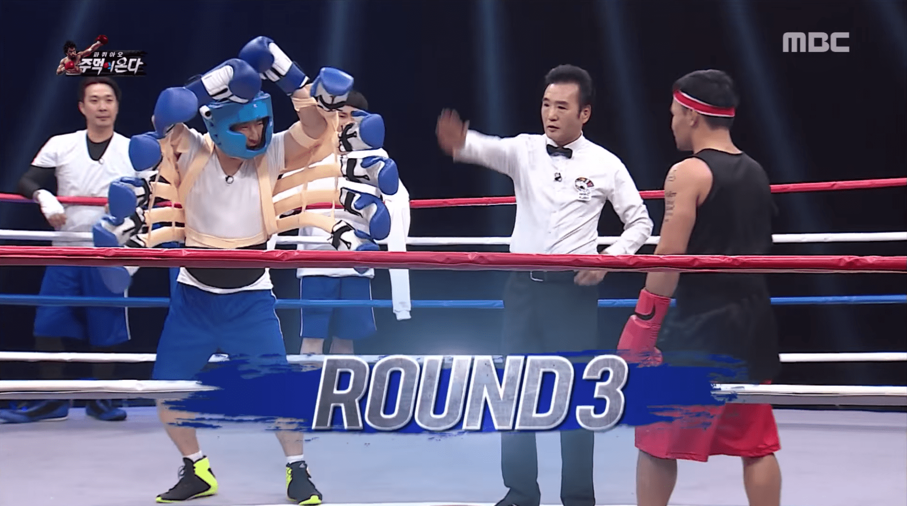 """""""Infinite Challenge"""" Attempts All Kinds Of Hilarious Tricks To Try And Beat Manny Pacquiao"""