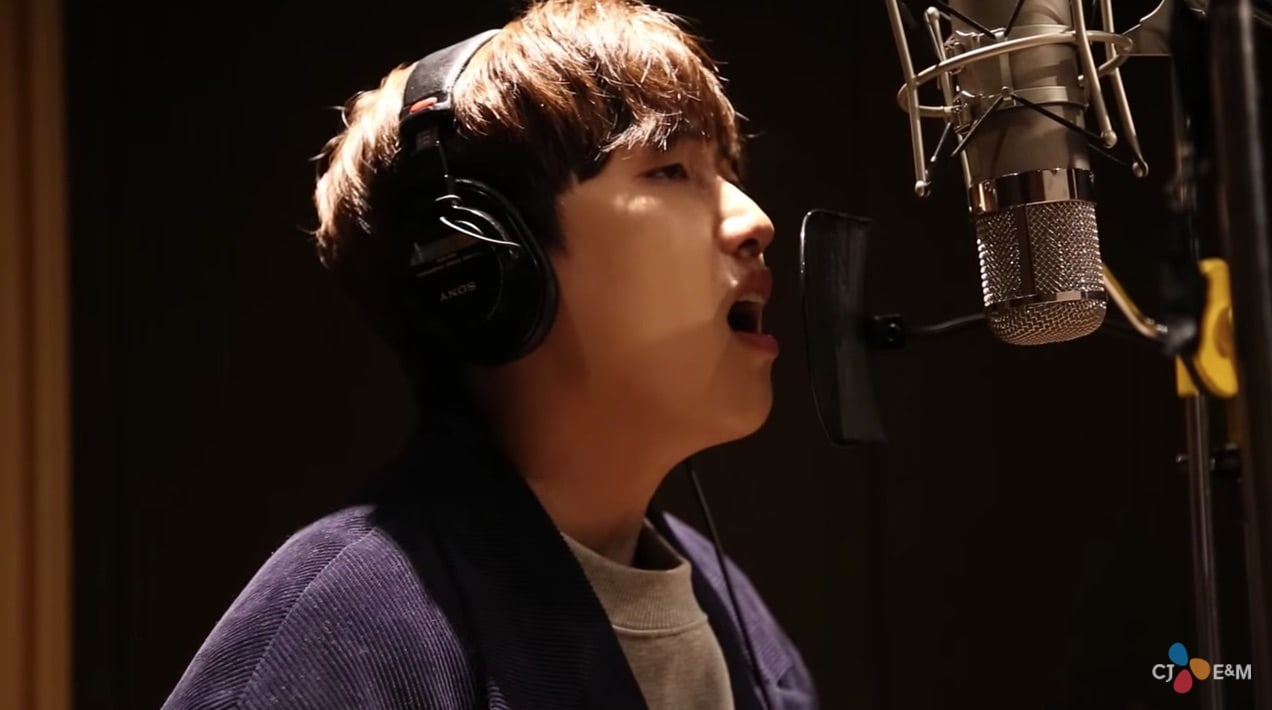 "Watch: B1A4's Sandeul Sings Of An ""Other World"" For ""Bad Guys 2"" OST"