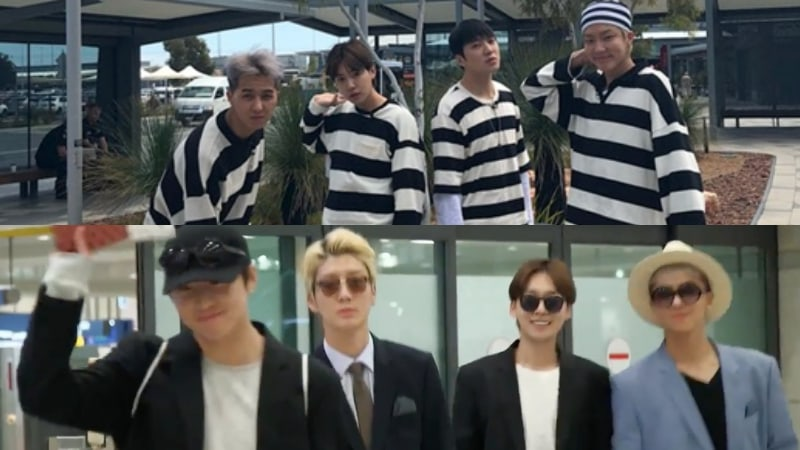 """Youth Over Flowers"" Reveals How WINNER Returned To Korea In Stylish Suits"