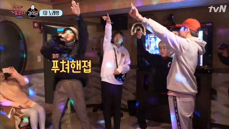 """Watch: WINNER Surprises """"Kang's Kitchen"""" Cast With Passionate Karaoke Performance Of """"Really Really"""""""