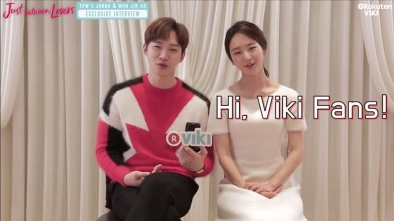 "Watch: 2PM's Junho And Won Jin Ah Are Adorable While Discussing ""Just Between Lovers"""