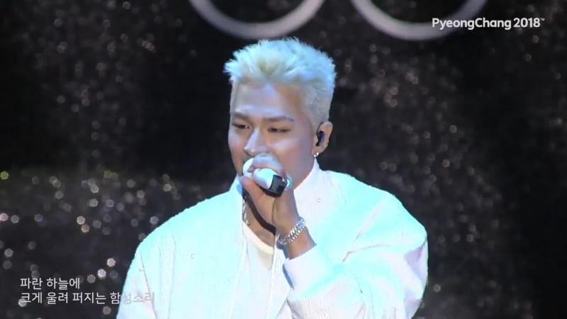 "Watch: BIGBANG's Taeyang Slays With Live Performance Of 2018 Pyeongchang Olympics Song ""Louder"""
