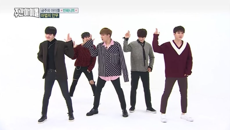 "Watch: INFINITE Tries Dancing To ""BANG BANG BANG"" And ""Gashina"" With Their Own Choreography"