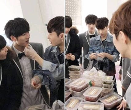 "EXO's Lay Thoughtfully Treats ""Idol Producer"" Trainees"
