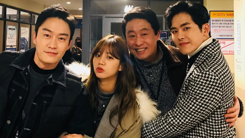 "Hoya Bids Farewell To ""Two Cops"" And Shares Photos With His Co-Stars"