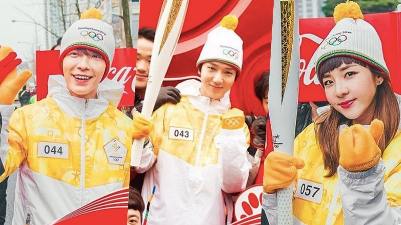 Watch: Super Junior's Donghae And Yesung, Sandara Park, And More Become Torchbearers For 2018 PyeongChang Olympics