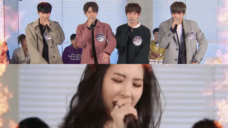 Watch: Wanna One And Sunmi Try To Score High With Covers Of BLACKPINK And TWICE