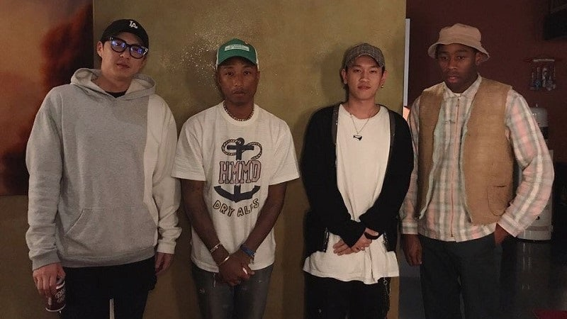Crush Meets Up With Pharrell And Tyler, The Creator