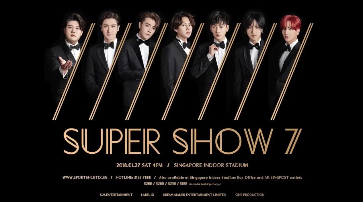 "Super Junior To Bring ""Super Show 7"" To Singapore"