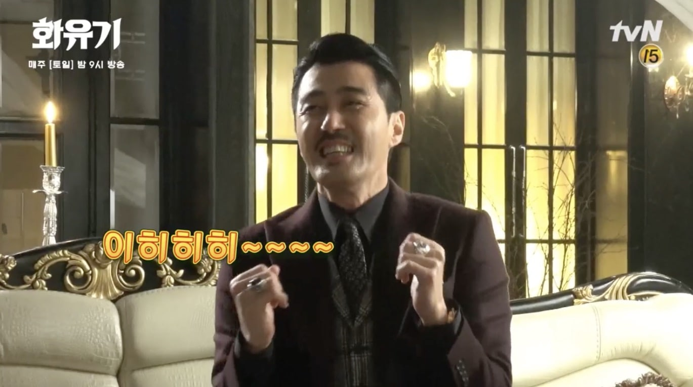 """Watch: Cha Seung Won Has Everyone Laughing With His Ad-Libs On Set Of """"Hwayugi"""""""