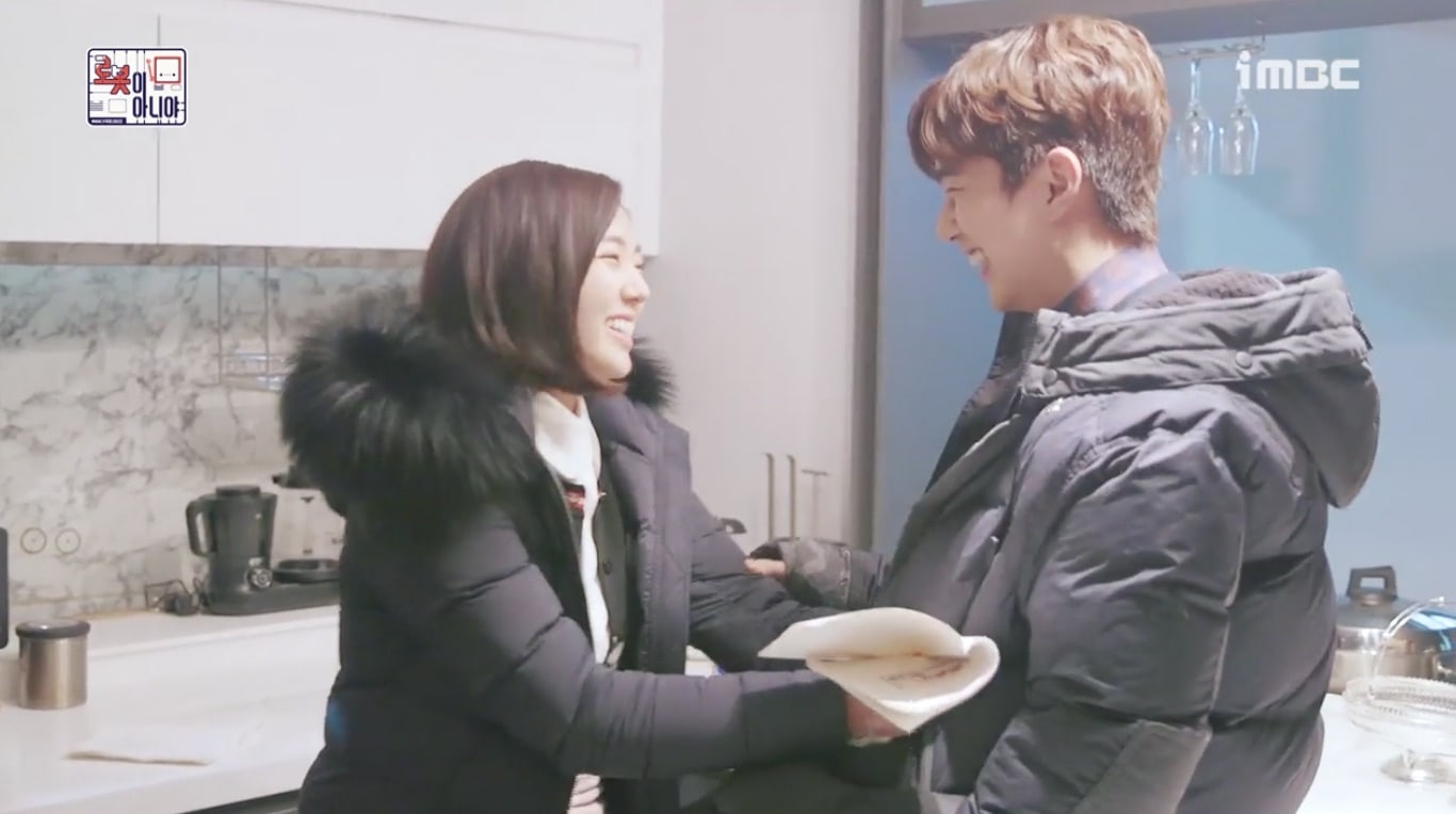 """Watch: Chae Soo Bin And Yoo Seung Ho Shyly Joke Around For Their """"I Am Not A Robot"""" Kiss Scene"""