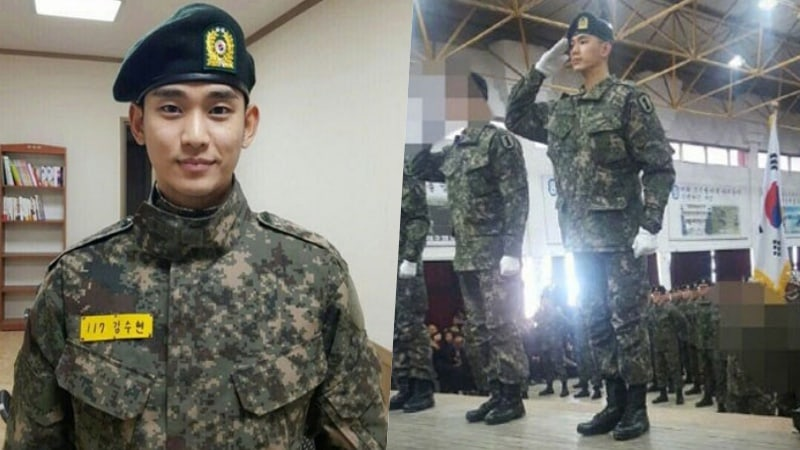 Kim Soo Hyun Is Looking Great In Newly Released Military Training Photos