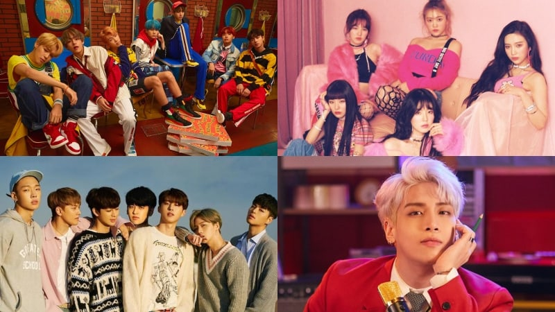 BTS, Red Velvet, iKON, Jonghyun, And EXO Rank In Top 10 Of Billboard's World Albums Chart