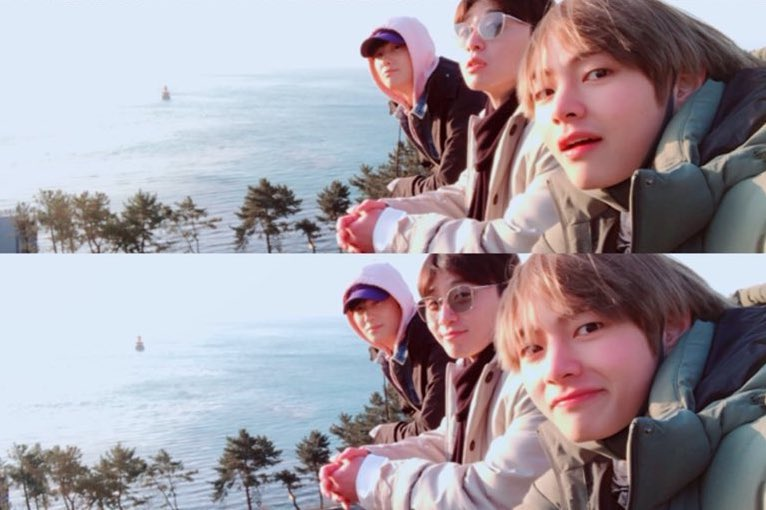 BTS's V Shares Photos From Trip With Park Seo Joon And Park Hyung