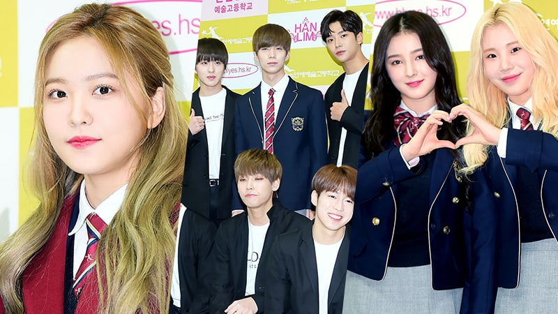 Members Of Red Velvet, SF9, MOMOLAND, And More Graduate From Hanlim Multi Art School