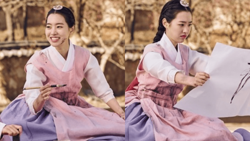 """Jin Se Yeon Is All Smiles Even When Covered In Ink As Her """"Grand Prince"""" Character"""