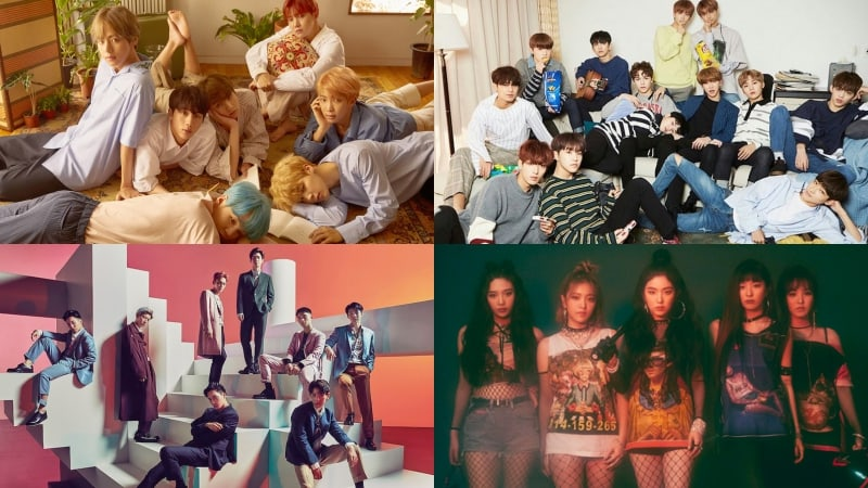 BTS, SEVENTEEN, EXO, And Red Velvet Take Spots In Top 5 Of Billboard's World Albums Chart