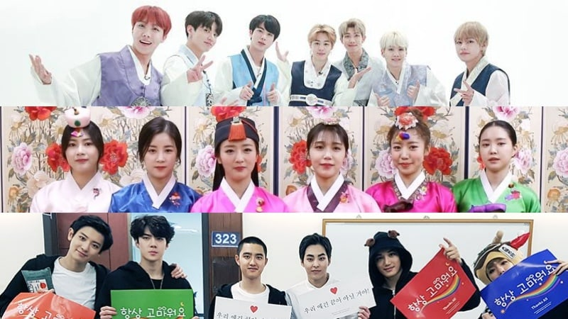 K-Pop Stars Share Their 2018 Lunar New Year Greetings