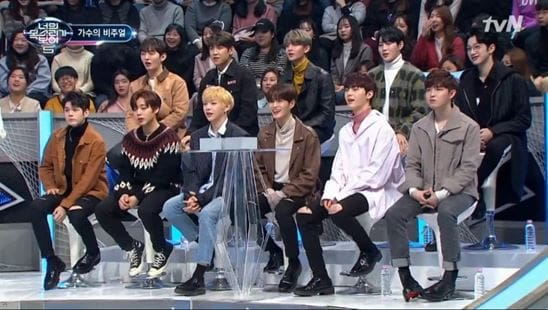 """Watch: Wanna One Takes On The Challenge Of Finding The Real Singers On """"I Can See Your Voice"""""""