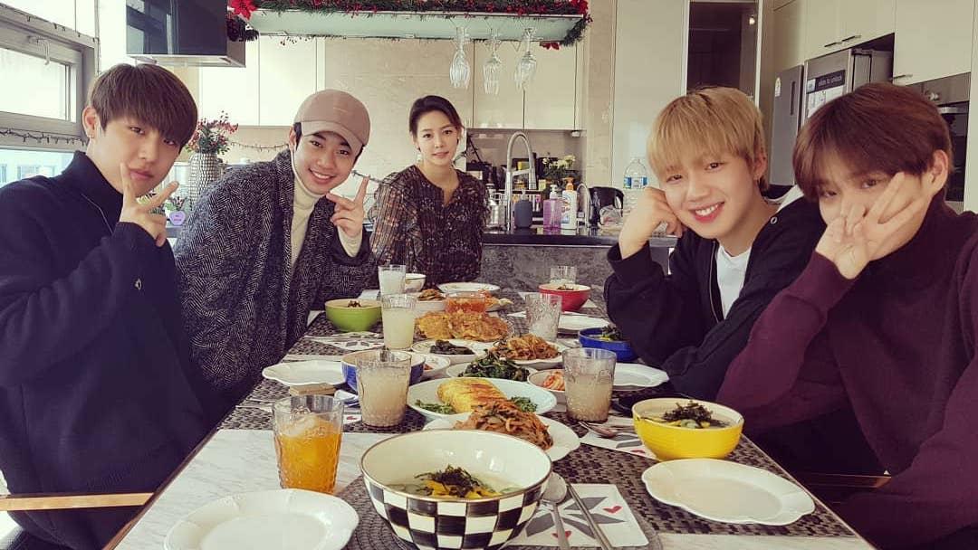 Wanna One's Park Woo Jin And Lee Dae Hwi + MXM Unite For Lunar New Year