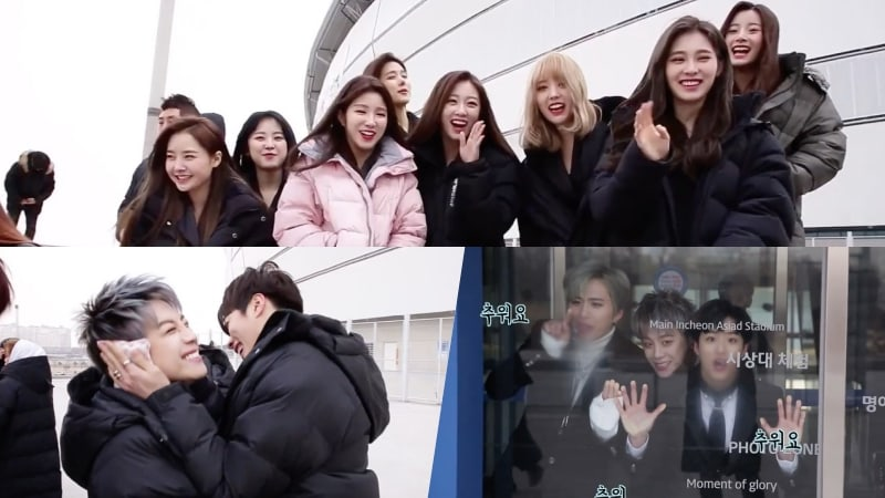 "Watch: ""The Unit"" Final Groups Keep Their Spirits Up As They Battle The Cold For Video Shoot"
