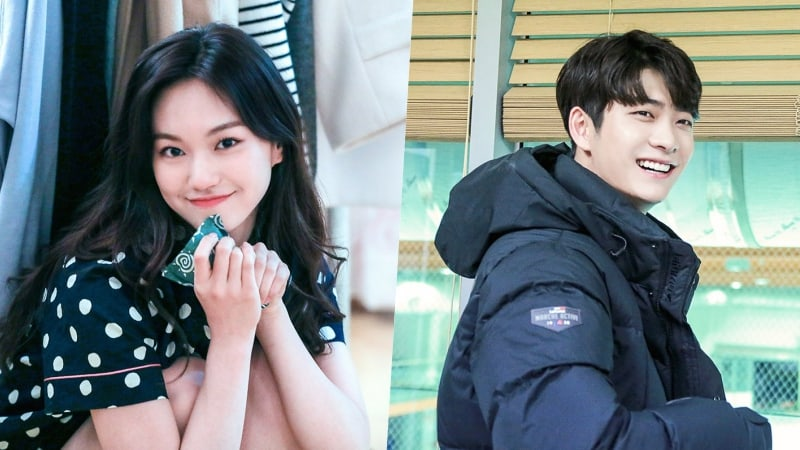 """Weki Meki's Kim Doyeon And Kang Tae Oh Have Fun In Behind-The-Scenes Photos For """"Short"""""""