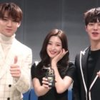 "Watch: SEVENTEEN's Mingyu, DIA's Jung Chaeyeon, And Song Kang Say Hello As New ""Inkigayo"" MCs"
