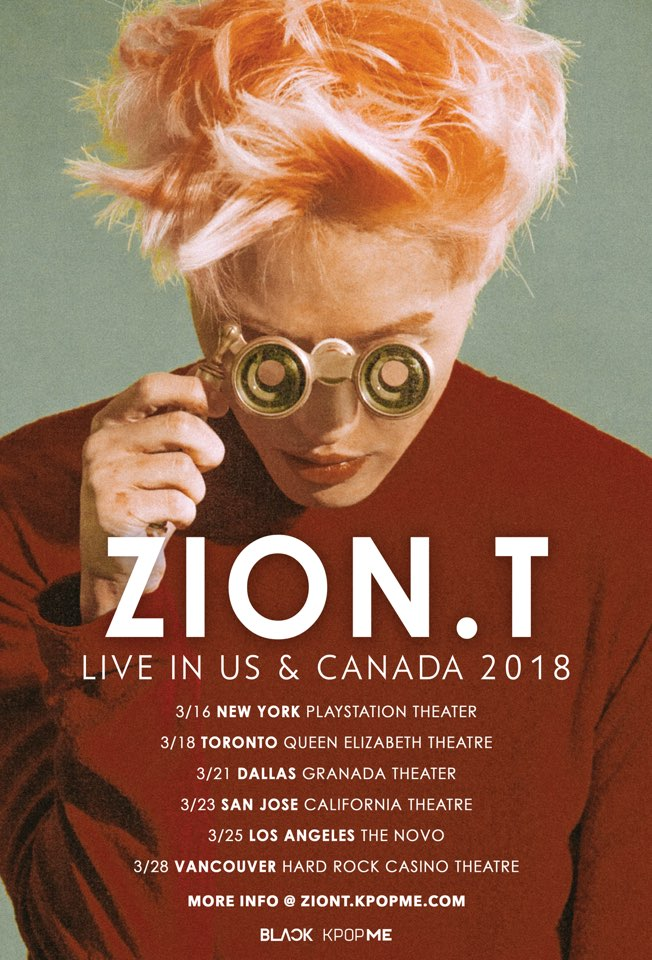 Zion.T To Hold Concerts In U.S. And Canada This March