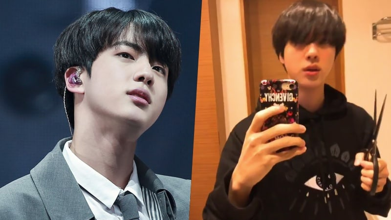 Watch: Things Go A Little Awry As BTS's Jin Tries To Cut His Own Bangs