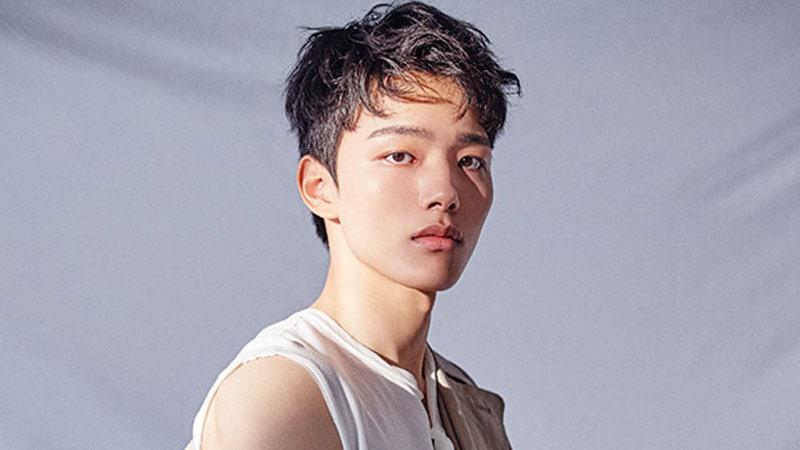 Yeo Jin-goo with life size cardboard cutout of Lee Min-ki