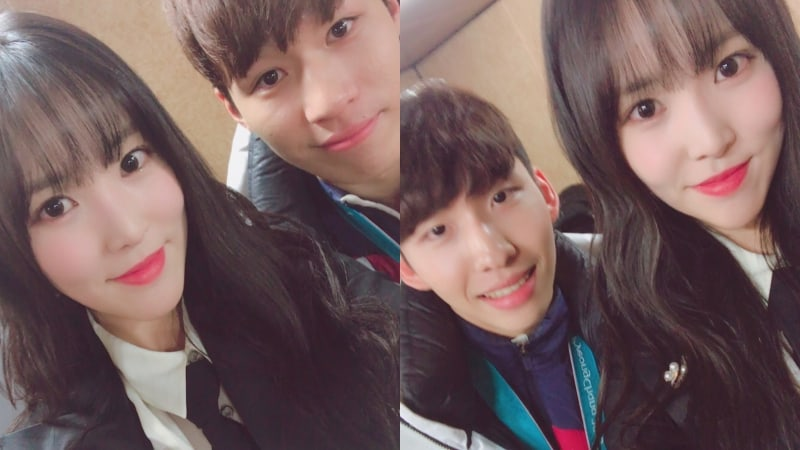 GFRIEND's Yuju Snaps Photos With Olympic Medalists After Performance In PyeongChang