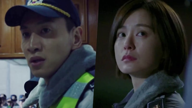 """Watch: Lee Kwang Soo And Jung Yoo Mi Go Through Arduous Police Training In """"Live"""" Preview"""