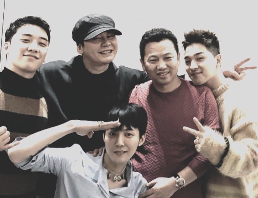 BIGBANG's Seungri And Yang Hyun Suk Wish G-Dragon Well Ahead Of Enlistment