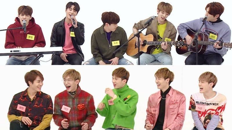 "Watch: DAY6 And N.Flying Perform Medleys Of Tracks By JYP And FNC Artists On ""Weekly Idol"""