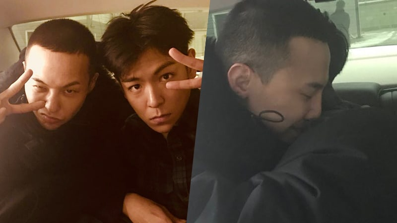BIGBANG's T.O.P Says Goodbye To G-Dragon With Sweet Hug