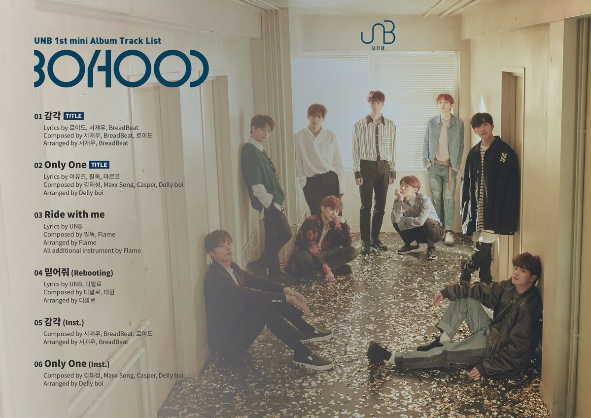 "UNB >> Album Debut ""Booyhood"" Track-list1"