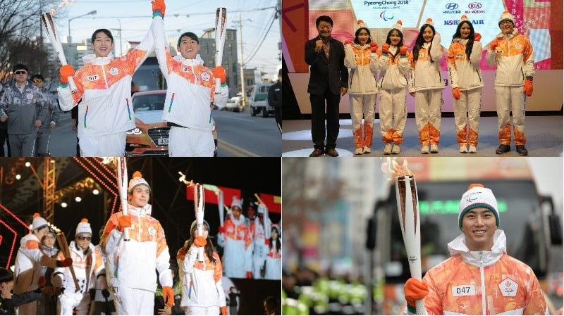 AOA, CNBLUE, Lee Dong Wook, And More Participate In Torch Relay For 2018 PyeongChang Paralympics