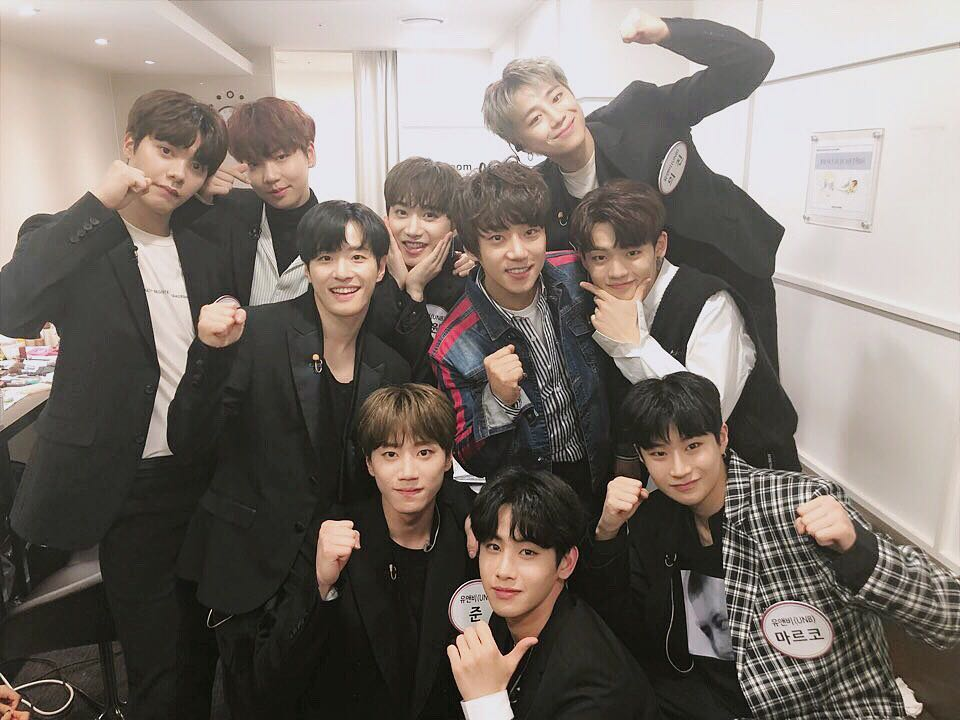 "UNB Shares Photo From Happy Reunion With ""The Unit"" Mentor Hwang Chi Yeol"