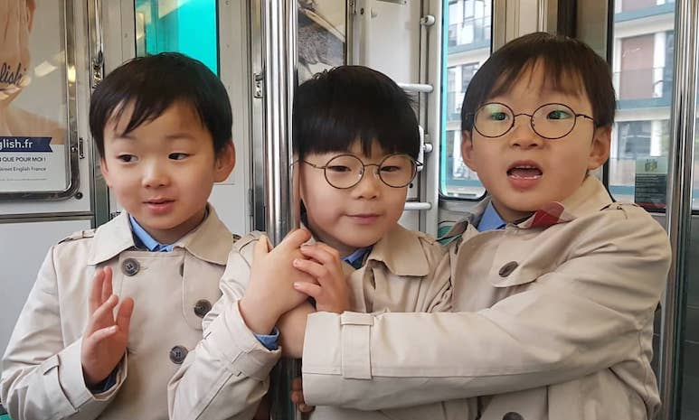 Song Il Gook Commemorates The Triplets' Growth Through Photos On Their Birthday