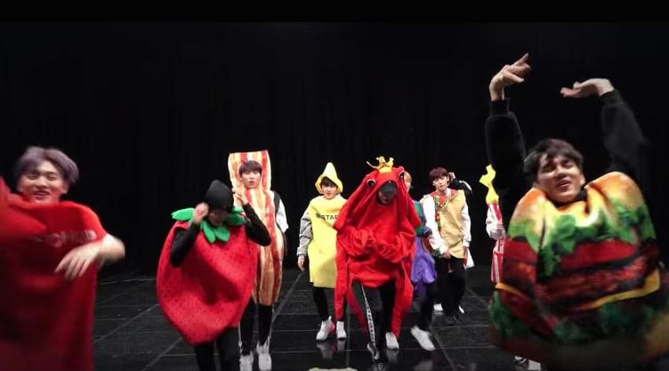 "Watch: Wanna One Celebrates MV Views With Hilarious Dance Practice Version Of ""I.P.U."""