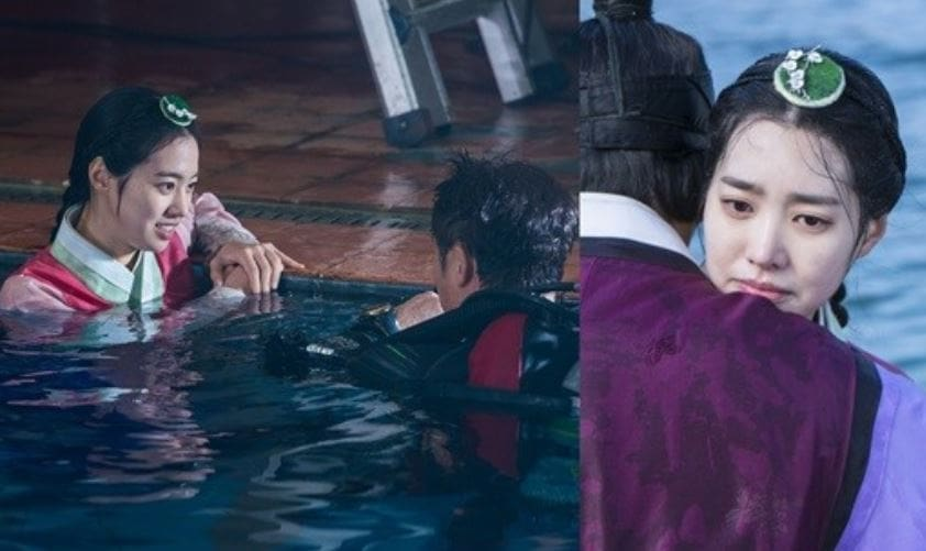 "Jin Se Yeon Energetically Films Water Scenes For ""Grand Prince"""