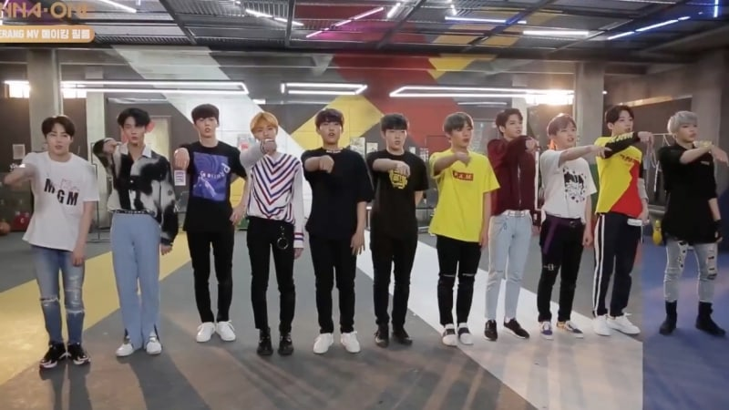 "Watch: Wanna One Takes Fans Behind The Scenes Of Upcoming ""Boomerang"" MV In New Clip"