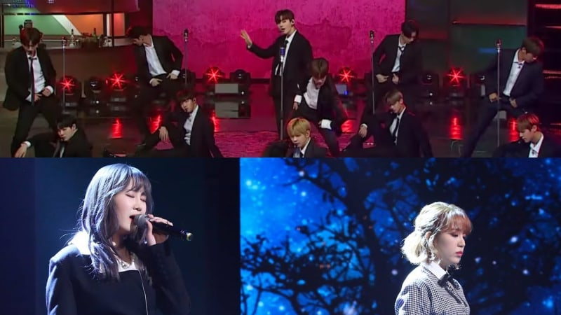 "Watch: Wanna One Faces Off Against Park Jimin And Baek A Yeon With Remakes Of Classic Hits On ""Sugar Man 2"""