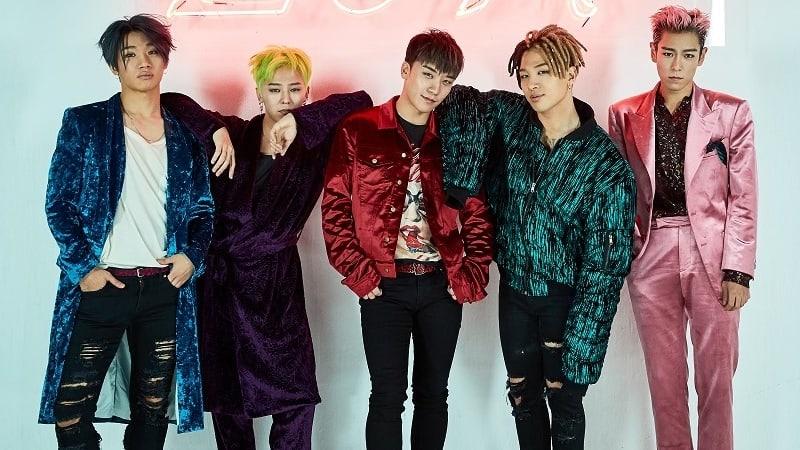 Korean boy group big Bang